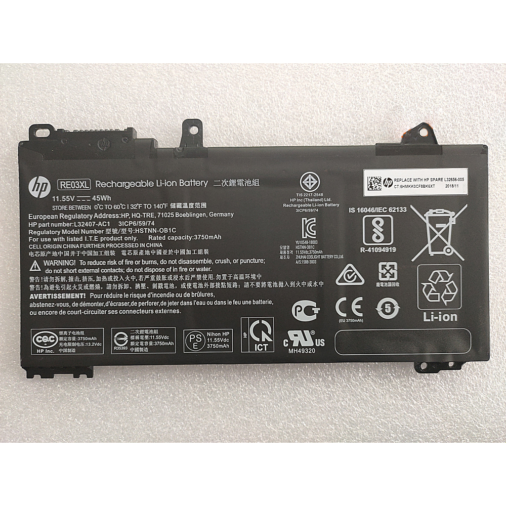 Batterie ordinateur HP RE03XL