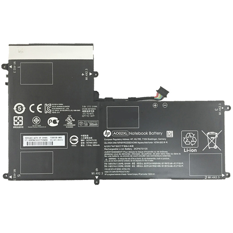 Batterie ordinateur HP 728558-005